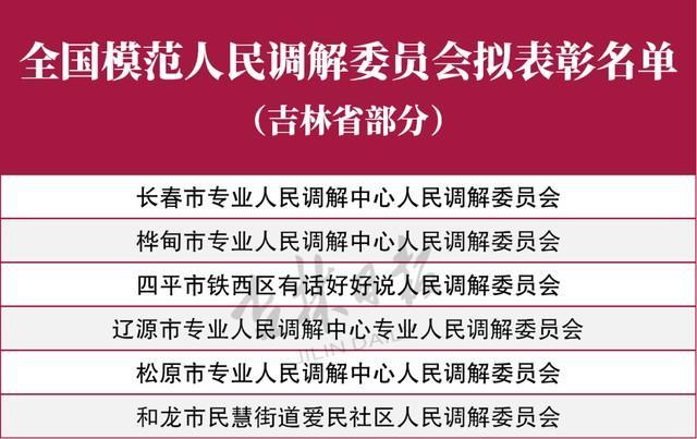 吉林省6个单位21人将受到全国表彰! 第3张
