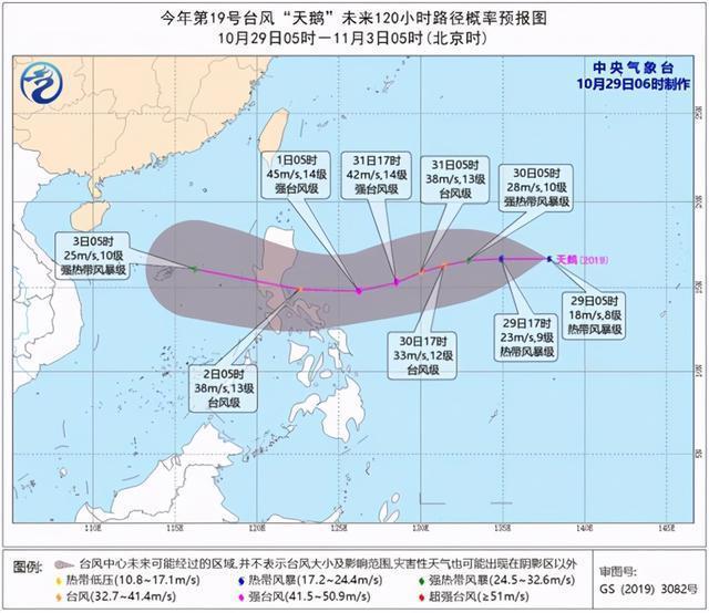 """今年的19号台风""""天鹅""""于29日05时在西北太平洋形成 第1张"""