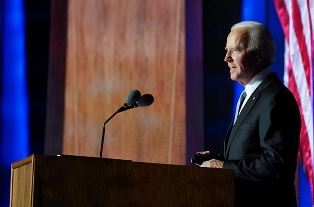 """拜登作为""""当选总统""""发表了全国演讲 第1张"""