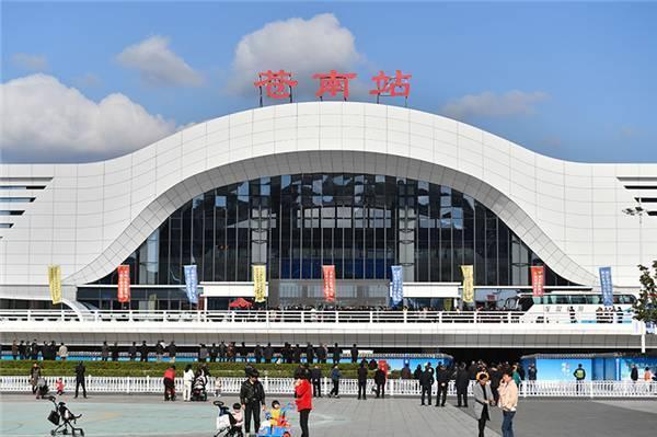 全国最大的县城高铁站投入使用。 第1张