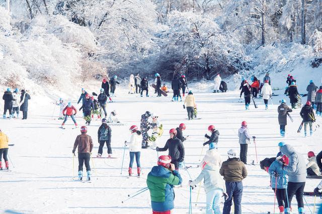 """滑雪场火爆,""""城市冰雪""""氛围浓厚。"""
